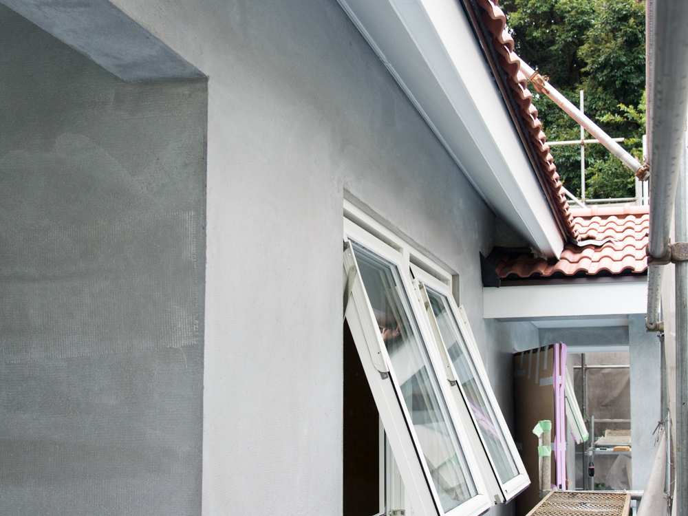 北欧輸入住宅の塗り壁工事