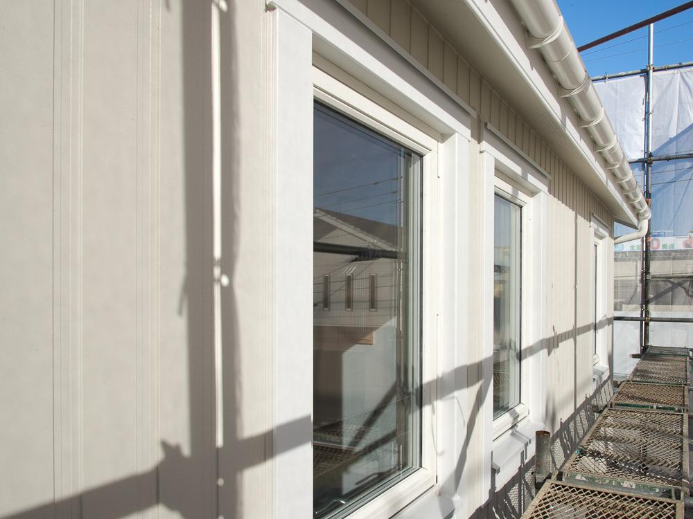 千葉県千葉市の北欧住宅の外部工事が進んでいます!