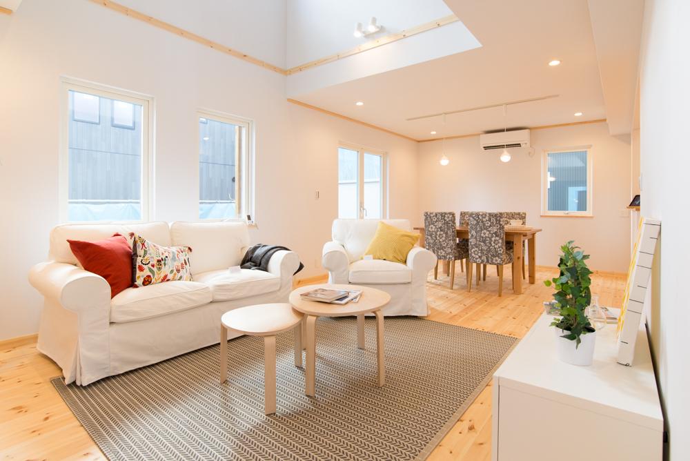 北欧輸入住宅「スウェーデンの家」完成見学会リビング・ダイニングルームのインエリア