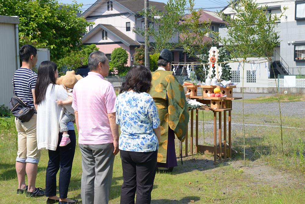 千葉県酒々井町で地鎮祭を執り行いました