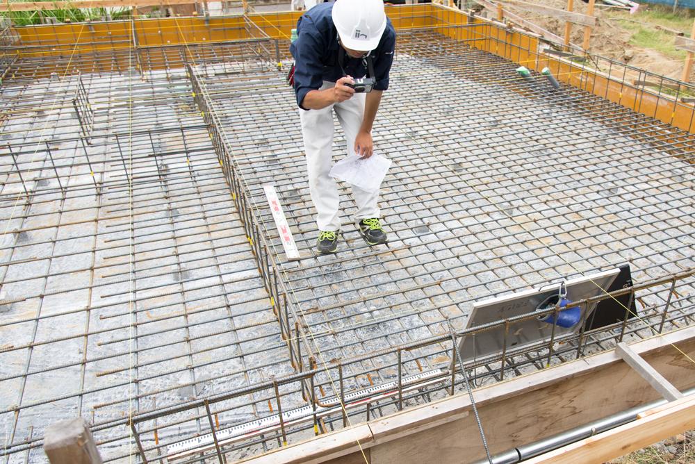 2x6注文住宅の基礎鉄筋検査