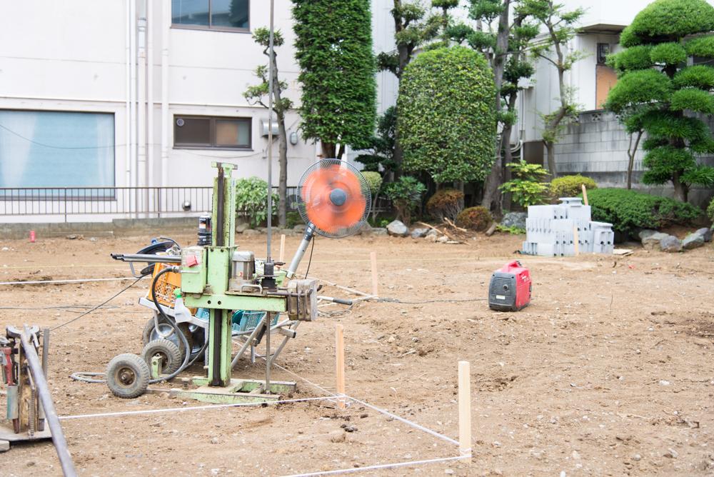地盤調査道具も夏仕様~!千葉県松戸市・ノースアメリカンの家