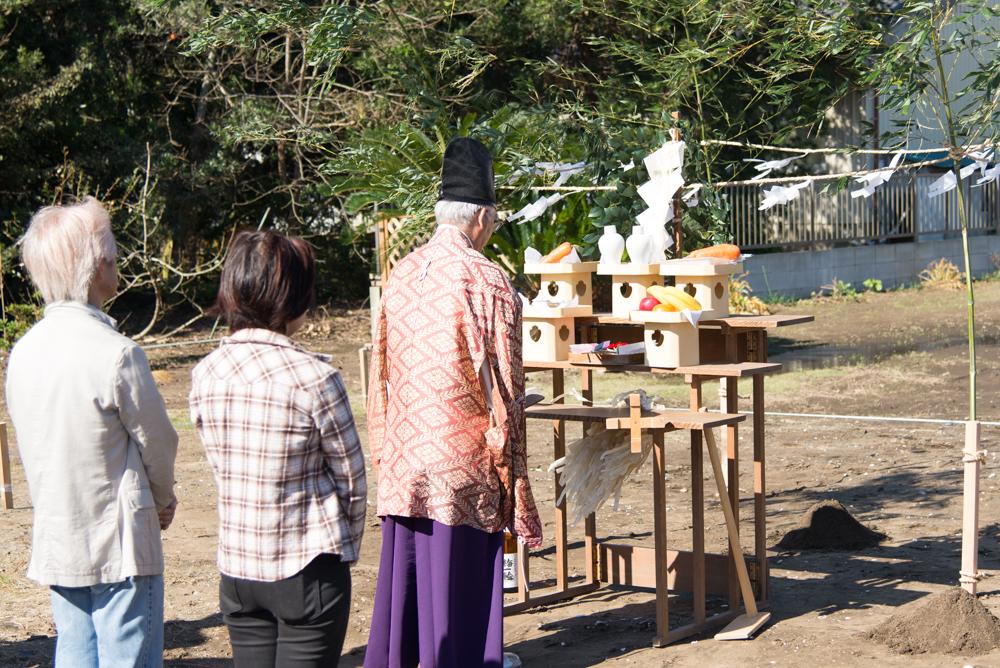 注文輸入住宅の地鎮祭を執り行いました