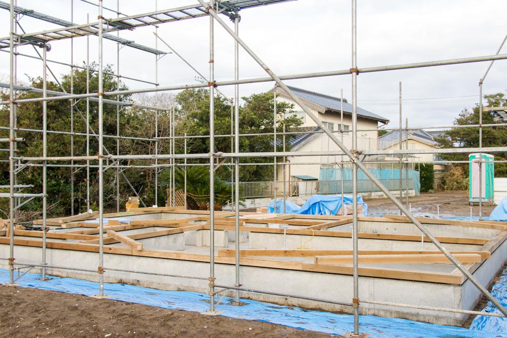 千葉県山武市の注文輸入住宅の躯体工事が進んでいます!