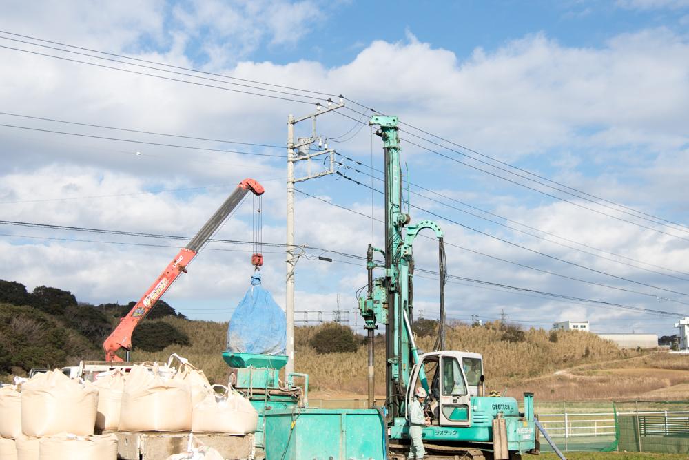 注文輸入住宅の地盤改良を千葉県銚子市で実施しました