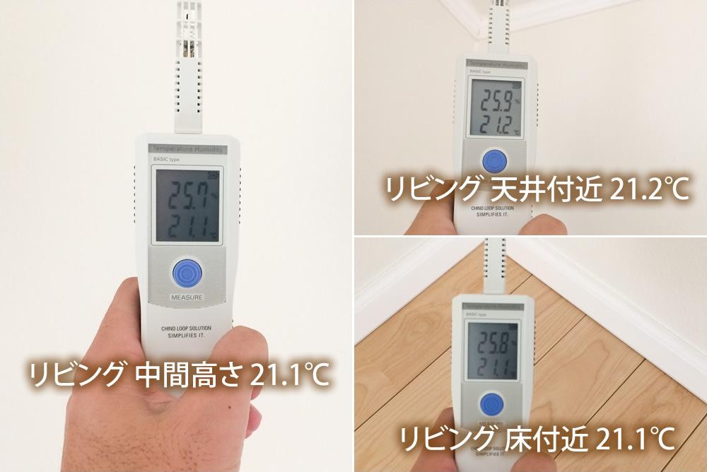 高断熱高気密2x6(ツーバイシックス)注文住宅の室内温度