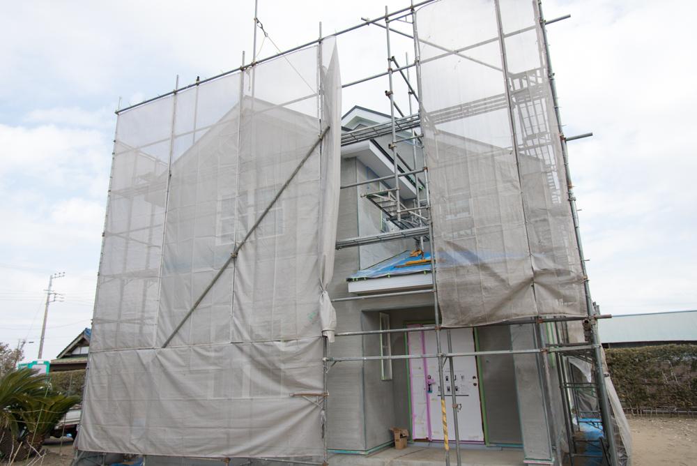 輸入住宅の塗り壁工事