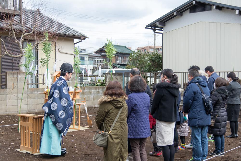 北欧輸入住宅の地鎮祭を千葉県松戸市で執り行いました!
