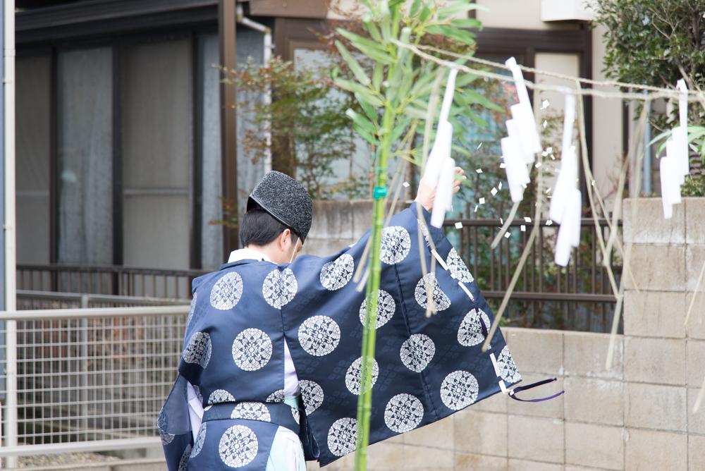 北欧輸入住宅も地鎮祭は日本流