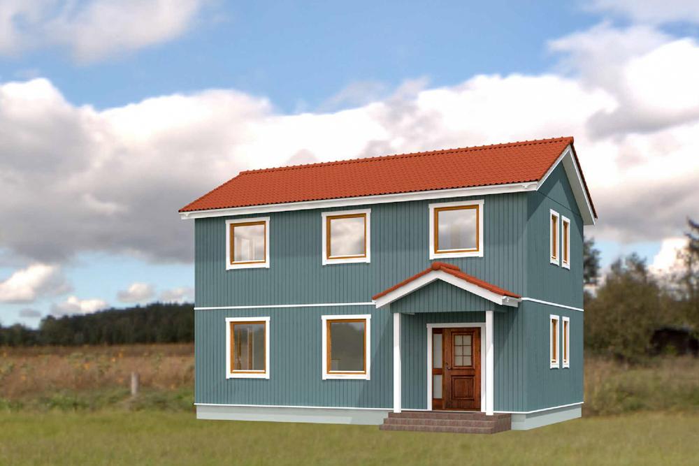 北欧輸入住宅「スウェーデンの家」千葉県松戸市、完成予想イメージ