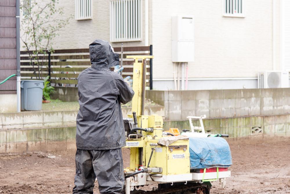注文北欧輸入住宅の地盤調査