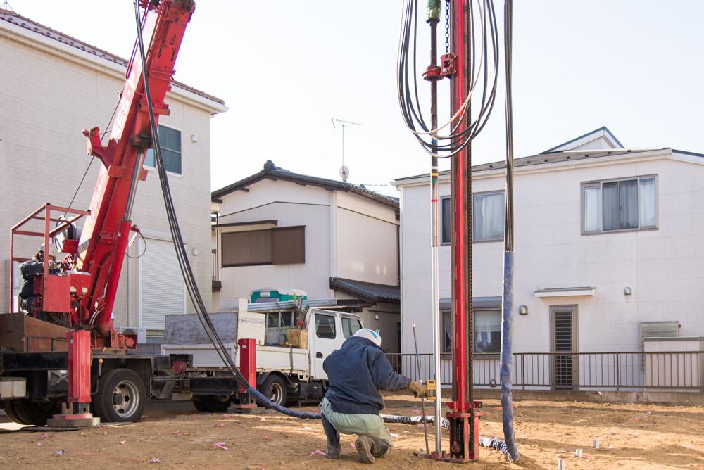 北欧輸入住宅の地盤補強工事