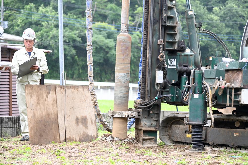千葉県匝瑳市「ノースアメリカンの家」地盤補強工事