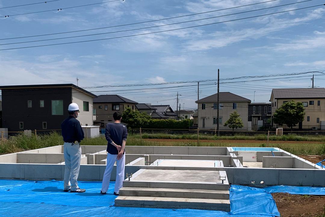 千葉県銚子市「ノースアメリカンの家」の基礎工事説明