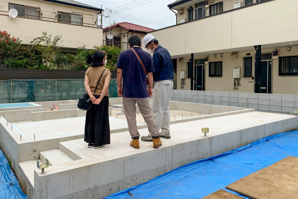 千葉県船橋市「ノースアメリカンの家」の基礎工事説明